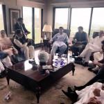 پاناما کیس فیصلہ کے بعد سینٹرل سیکرٹری برائےامور خارجہ ڈاکٹر شہزاد وسیم اور دیگر رہنماؤں کی بنی گالا آمد۔