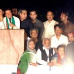 Pakistan Tehreek-e-Insaf Chairman Imran Khan (official) addressing the participants of Azadi Dharna.