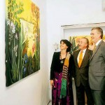 H.E Richard G. Olson, US Ambassador to Pakistan, H.E Rodolfo J. Martin-Saravia Argentine Ambassador to Pakistan, Dr Shahzad Waseem Adviser to Chairman Pakistan Tehreek-e-Insaf with Argentinian painter Ms Maria Martha Pichel.