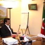 اسلام آباد: سیکرٹری جنرل جہانگیرترین سے انکی رہائشگاہ پر مرکزی سیکرٹری برائےامور خارجہ ڈاکٹر شہزاد وسیم کی ملاقات