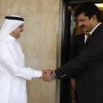 Chairman PTI Imran Khan with Dr Shahzad Waseem meeting Ambassador of Saudi Arabia