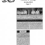 Nawa e Waqt - 29th July 2013 - Page # 3