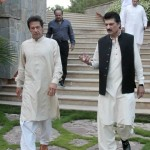 Adviser to Chairman PTI Dr Shahzad Waseem with Imran Khan (official)