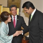 Dr Shahzad Waseem leader PTI welcomed by H.E Hiroshi Inomata and his spouse at reception in Japan Embassy.