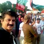 Dr Shahzad Waseem at D-Chowk Azadi Dharna
