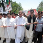 Vice Chairman #pti Shah Mehmood Qureshi Saif Ullah Khan Nyazee Additional Secretary General Dr Shahzad Waseem Adviser to Imran Khan (official) and pti workers in protest against Election rigging.