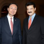 Adviser to Chairman PTI Dr Shahzad Waseem along with H.E Mr. Sun Weidong, Ambassador of China.
