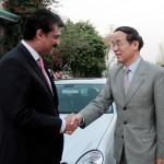 Dr Shahzad Waseem Advisor to Chairman Pakistan Tehreek-e-Insaf Imran Khan welcoming Mr Ai Ping Vice Minister of #CPC.