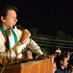 Chaiman Pakistan Tehreek-e-Insaf addressing Azadi Dharna participants.