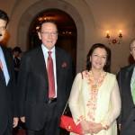 Dr Shahzad Waseem leader PTI along with Mr.Salim Saif ullah and Ambassador of Argentina Mr. Rodolfo J. Martin.