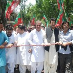 Vice Chairman #pti Shah Mehmood Qureshi Saif Ullah Khan Nyazee Additional Secretary General Dr Shahzad Waseem Adviser to Imran Khan (official) and Pakistan Tehreek-e-Insaf workers in protest against Election rigging.