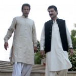 Dr Shahzad Waseem with Chairman PTI Imran Khan (official)
