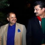 Dr Shahzad Waseem Adviser to Chairman Pakistan Tehreek-e-Insaf welcoming Mr.Afzal Butt President PFUJ.