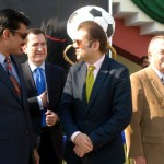 Senator Dr Shahzad Waseem at #Beaconhouse Inter Regional #football tournament final. — with H.E Sher Ali Jononov, Ambassador of Tajikistan, Mr Nassir Kasuri and H.E J Martin-Saravia, Ambassador of the Argentine at Pakistan Sports Complex.