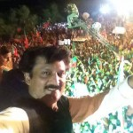 Responding to crowd at #PTI Dharna