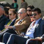 Dr Shahzad Waseem watching finals of #BeaconHouse football tournament — with Mr Nassir Kasuri and H.E J Martin-Saravia, Ambassador of the Argentine at Pakistan Sports Complex.