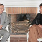 Chairman Pakistan Tehreek-e-Insaf Imran Khan in discussion with Mr Ai Ping Vice Minister of #CPC #China.