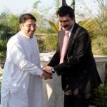 Dr Shahzad Waseem Adviser to #PTI chairman Imran Khan (official) welcoming Saifullah Khan Niazi Additional Secretary General Pakistan Tehreek-e-Insaf
