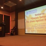 Dr  Shahzad Waseem at a Seminar on Khojaly Genocide