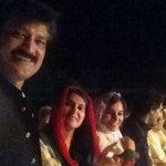 On stage with #PTI colleagues. Amazing energy and Junoon of Insafians