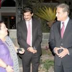 Dr Shahzad Waseem with Shah Mehmood Qureshi and Dr Shirin Mazari.