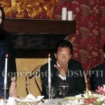 Former Australian High Commissioner Ms Zorica Mccarthy speaking at reception in her honor hosted by PTI Leader/ Former Senator Dr Shahzad Waseem at his residence. — with Imran Khan (official).
