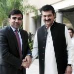 Dr Shahzad Waseem Adviser to Chairman PTI welcoming H.E Mr.Janan Mosazai, The Ambassador of Islamic republic of Afghanistan.