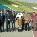 Senator Dr Shahzad Waseem at #Beaconhouse Inter Regional #football tournament final. — with H.E Sher Ali Jononov, Ambassador of Tajikistan, Mr.Nassir Kasuri and H.E J Martin-Saravia, Ambassador of the Argentine at Pakistan Sports Complex.