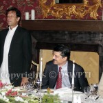 PTI Chairman Imran Khan speaking at reception in honor of Former Australian High Commissioner Ms Zorica Mccarthy hosted by PTI Leader/Former Senator at his residence. — with Imran Khan (official).