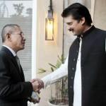 Dr Shahzad Waseem Adviser to Chairman PTI with H.E Col (Retd) Haji Ra'eml Maloek Haji Abdul Wahab, High Commissioner of Brunei Darussalam.