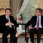 VC Pakistan Tehreek-e-Insaf Shah Mehmood Qureshi in discussion with Mr. Tian Duanhui, DG, CPC Center for International Exchanges