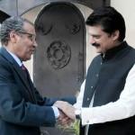 Dr Shahzad Waseem Adviser to Chairman PTI welcoming H.E Mr. Mustapha Salahdina ,The Ambassador of Kingdom of Morocco.