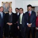 Pakistani High Commissioner in UK hosted reception for Foreign Minister Shah Mahmood Quraishi, President Azad Kashmir, Pakistani & British Parliamentarians.