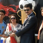 Dr Shahzad Waseem awarding prizes to the players at the prize distribution ceremony of #BeaconHouse football tournament — at Pakistan Sports Complex.