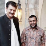 Dr Shahzad Waseem Adviser to Chairman PTI with Mr.Mohamed Imran Haider, Counsellor of South African High Commission.