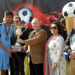 Senator Dr Shahzad Waseem at prize distribution ceremony of #Beaconhouse Inter Regional #football tournament final. — with H.E J Martin-Saravia, Ambassador of the Argentine at Pakistan Sports Complex.