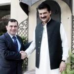 Adviser to Chairman PTI Dr Shahzad Waseem welcoming Mr. Ilham Mammadov first Secretary Azerbaijan Embassy.