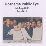 Roznama Public Eye - 1st August 2013