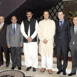 Group photo of Chairman PTI Imran Khan (official) with the Ambassadors of Muslim countries during an Iftar-Dinner hosted by Adviser to Chairman #PTI Dr Shahzad Waseem at his residence.