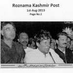 Roznama Kashmir Post - 1st August 2013