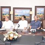 Chairman PTI Imran Khan presiding consultative meeting at Bani Gala.