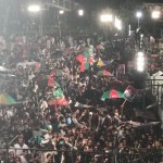 Celebrations at their peak AzadiJalsa is ready to welcome chairman PTI Imran Khan at Liaqat Bagh.