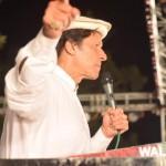 Chairman PTI Imran Khan addressing charged crowd at Liaqat Bagh AzadiJalsa