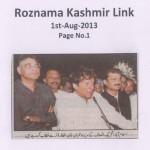 Roznama Kashmir Link - 1st August 2013