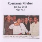 Roznama Khyber - 1st August 2013