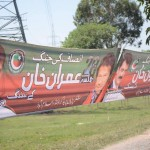After CDA shameful act, more & more banners with Imran Khan message erupting all over. PTI