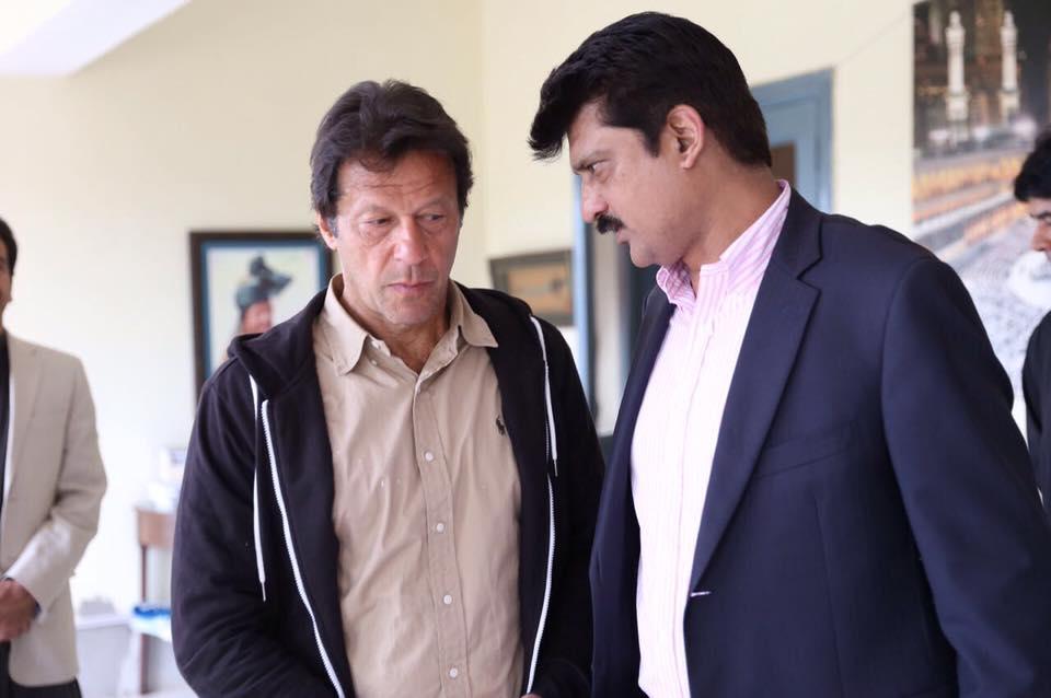 At Bani Gala Chairman Secretariat, briefed Imran Khan on interaction with China CPC