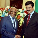 Attended reception hosted by High Commissioner Mpendulo Kumalo to celebrate 23rd freedom day of South Africa PTI