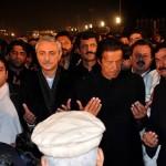Dr Shahzad Waseem Offering funeral prayer with Chairman Pakistan Tehreek-e-Insaf Imran Khan