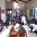 British High Commissioner Thomas Drew called on Chairman PTI Imran Khan at bani gala